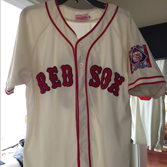 low priced 852df 4e1fa Boston Red Sox #9 Throwback Mitchell & Ness